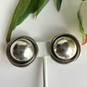 VTG Large Domed Clip On Earrings
